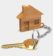 house key chain with a key