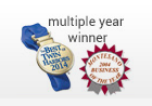 multiple year winner logo